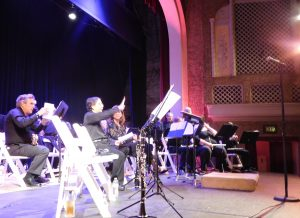 Getting ready to play in the Sebastiani Theatre